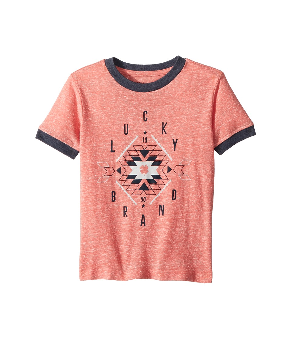 Lucky Brand Kids - Short Sleeve Graphic Tee (Toddler) (Spiced Coral) Boys T Shirt