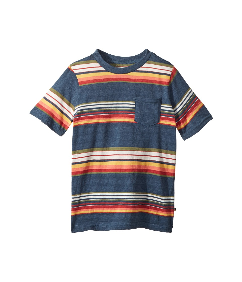 Lucky Brand Kids - Short Sleeve Print Tee (Little Kids/Big Kids) (Indigo Blue) Boys T Shirt