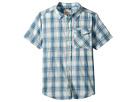 Lucky Brand Kids Short Sleeve Yarn-Dye Plaid Shirt (Big Kids)