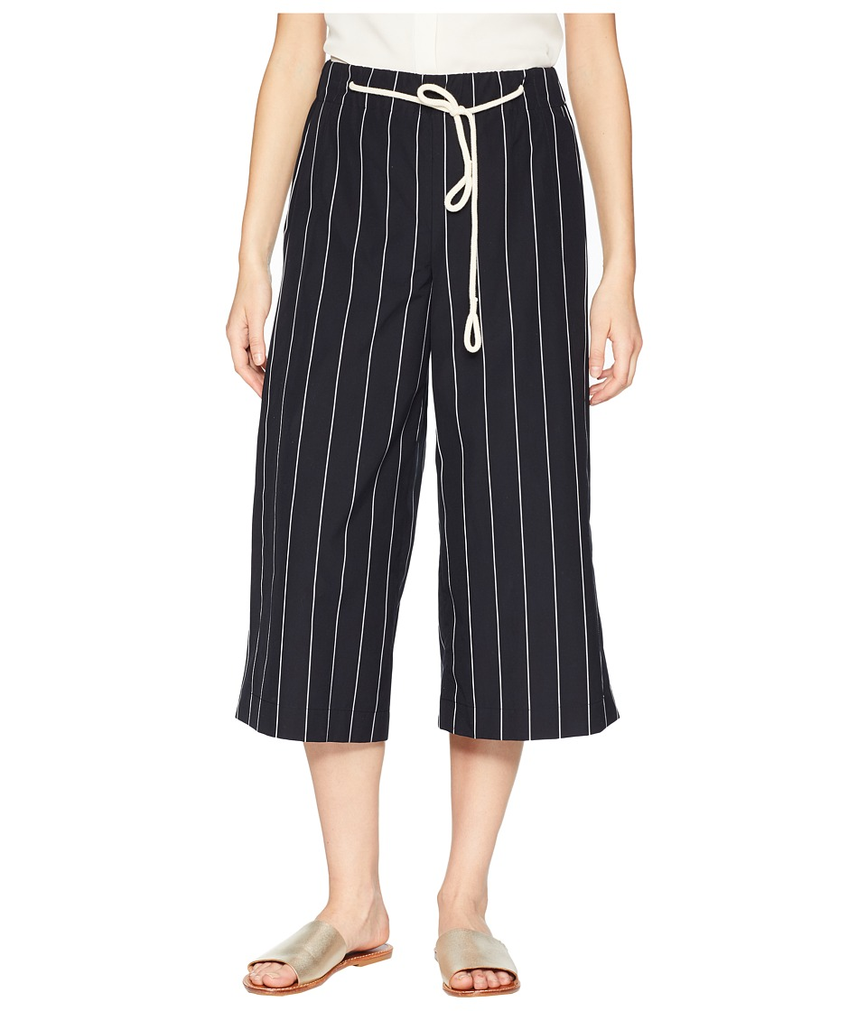 Vince Skinny Stripe Side Slit Culotte (Coastal/Optic Whit...