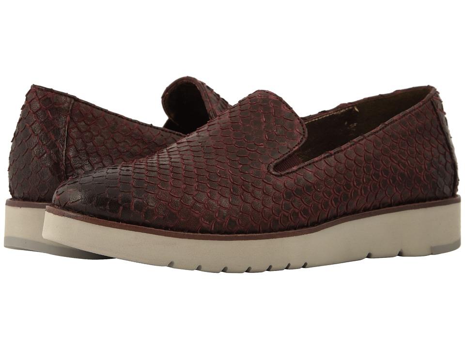Johnston & Murphy Penelope (Wine Italian Snake Print Leather) Slip-On Shoes