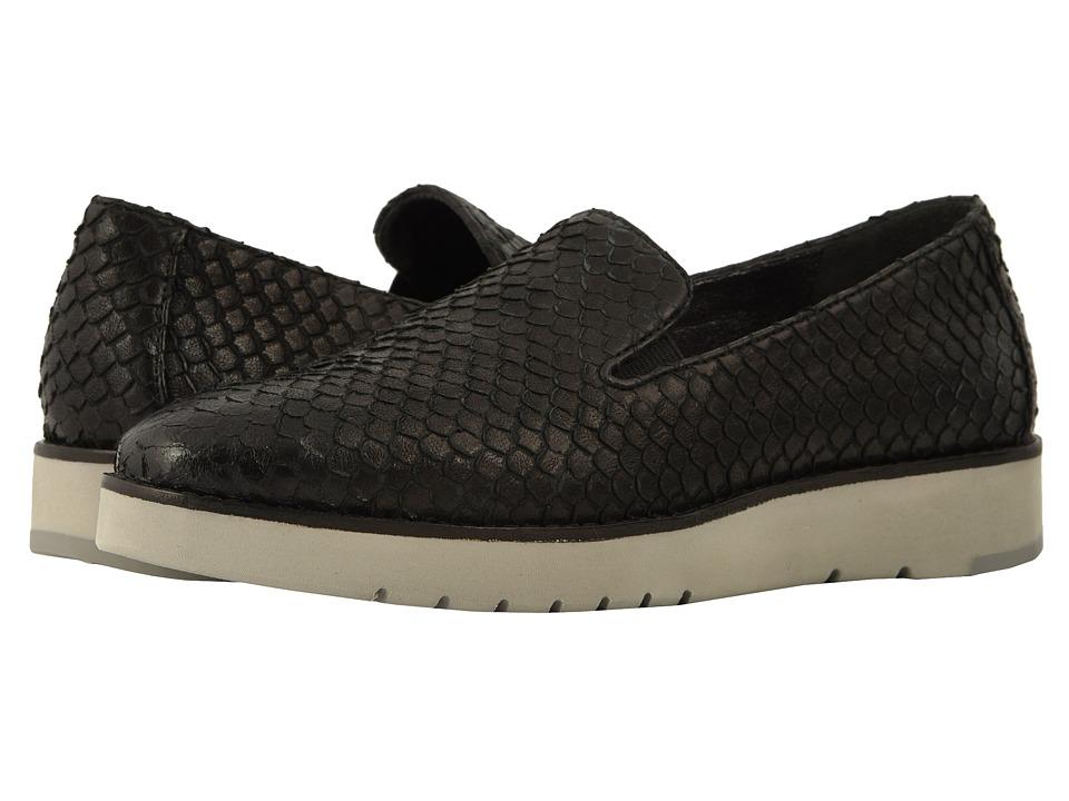 Johnston & Murphy Penelope (Black Italian Snake Print Leather) Slip-On Shoes