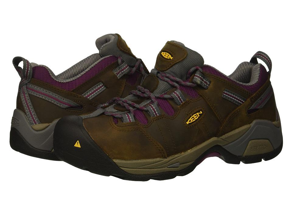 Keen Utility Detroit XT Steel Toe (Cascade Brown/Amaranth) Women's Work Boots