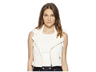 RED VALENTINO RED VALENTINO Leather Vest with Boules
