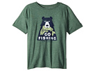 Life is Good Kids Let's Go Fishing Cool T-Shirt (Little Kids/Big Kids)