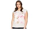 Calvin Klein Plus Plus Size Sleeveless Stripe Print Top