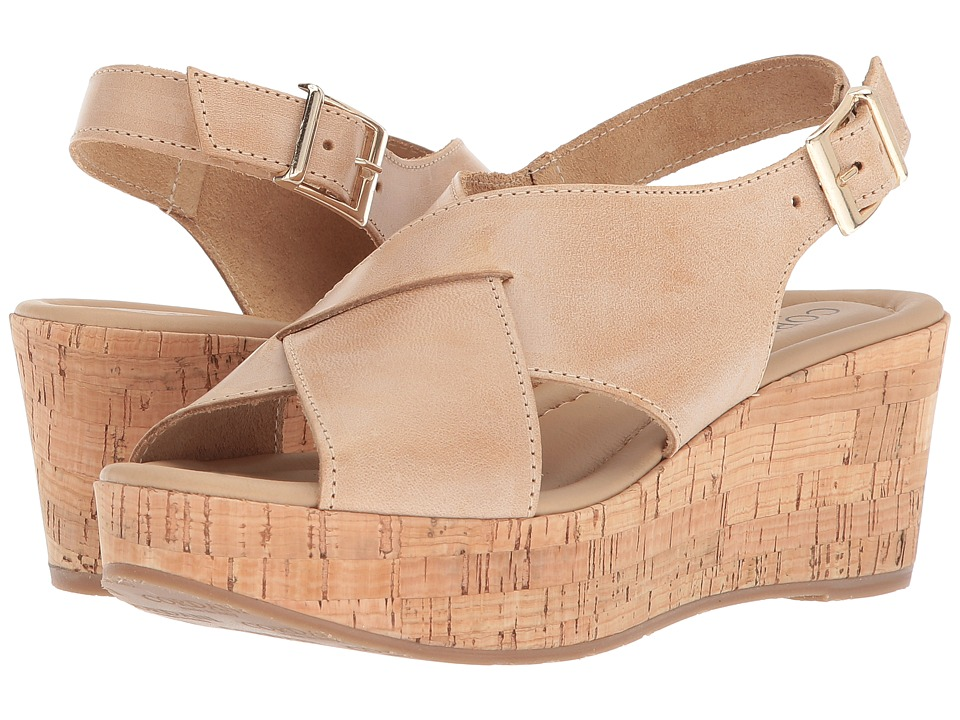 Vintage Sandals | Wedges, Espadrilles – 30s, 40s, 50s, 60s, 70s Cordani - Cleary Natural Leather Womens Sandals $179.00 AT vintagedancer.com