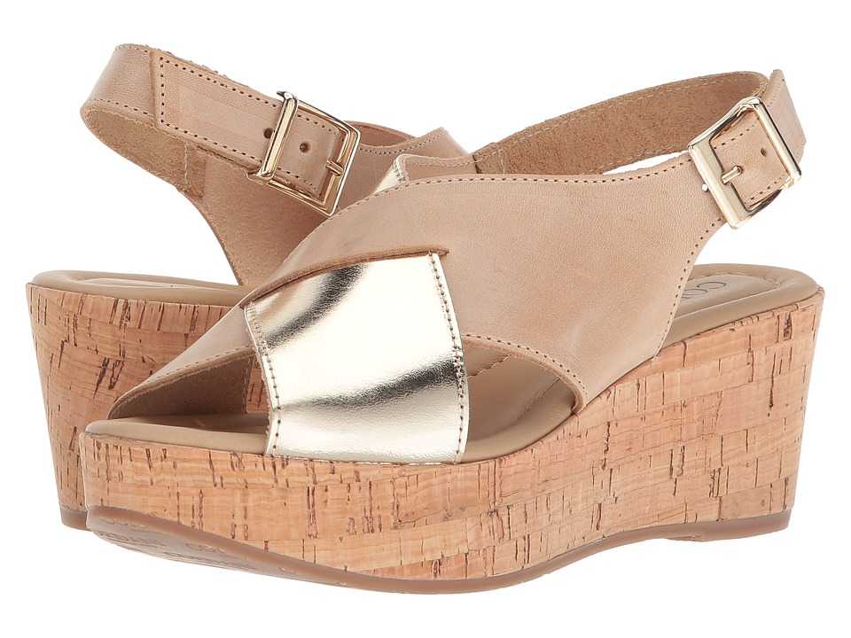 Vintage Sandals | Wedges, Espadrilles – 30s, 40s, 50s, 60s, 70s Cordani - Cleary Natural LeatherGold Womens Sandals $179.00 AT vintagedancer.com