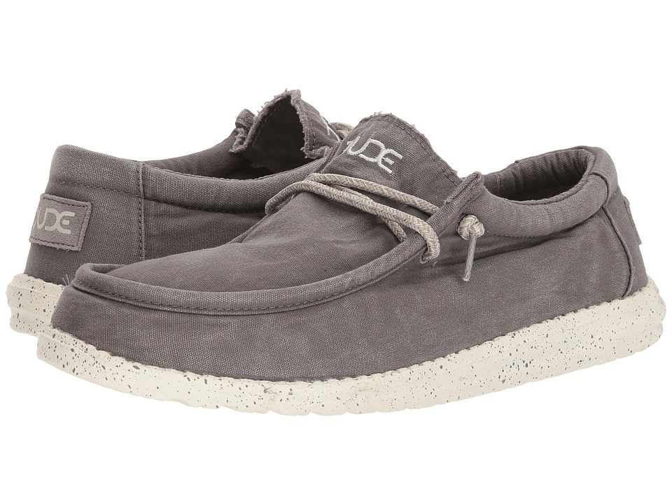 Hey Dude - Wally Washed (Dark Grey) Mens Shoes