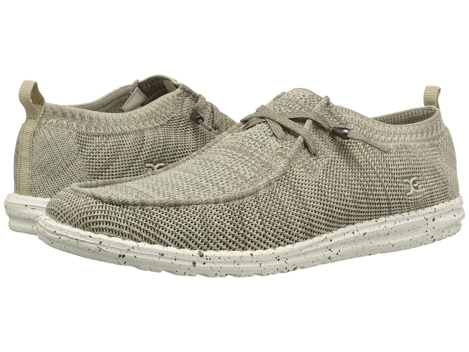 Hey Dude - Wally Knit (Beige) Mens Shoes