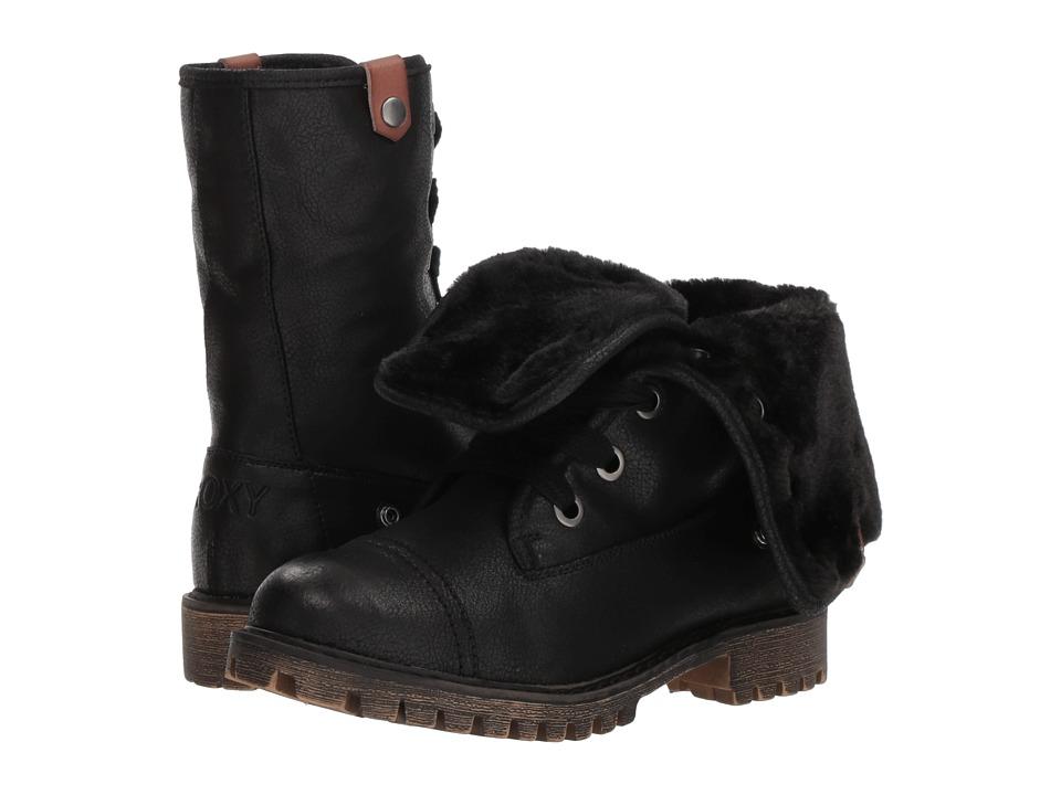Roxy Bruna (Black) Women's Lace-up Boots