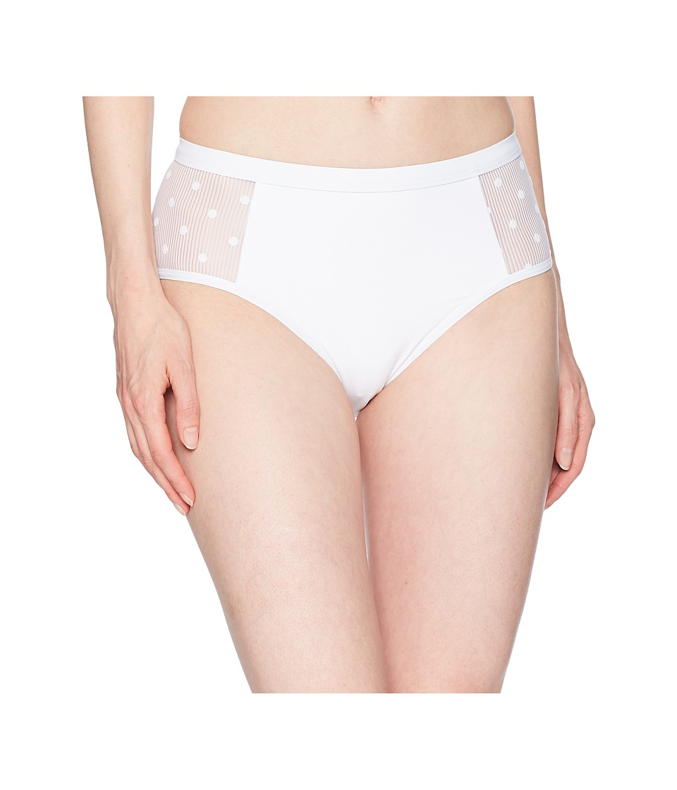 Ella Moss - Sheer Dot High-Waist Pants (White) Womens Swimwear