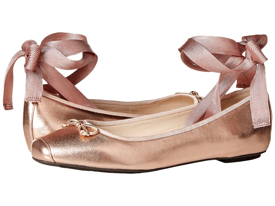 Cole Haan Downtown Ballet (Rose Gold Metallic Leather) Women's Shoes