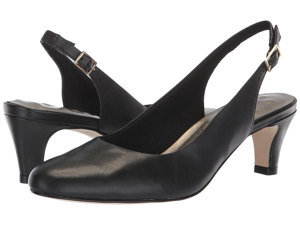 Walking Cradles Jolly (Black Leather) 1-2 inch heel Shoes