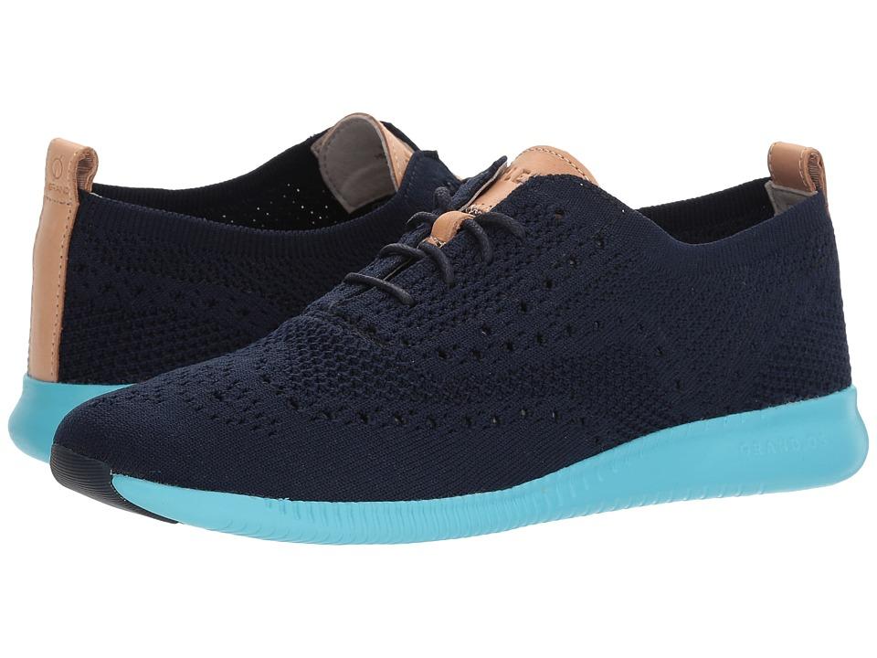 Cole Haan 2.Zerogrand Stitchlite Oxford (Marine Blue Knit/Bluefish) Women