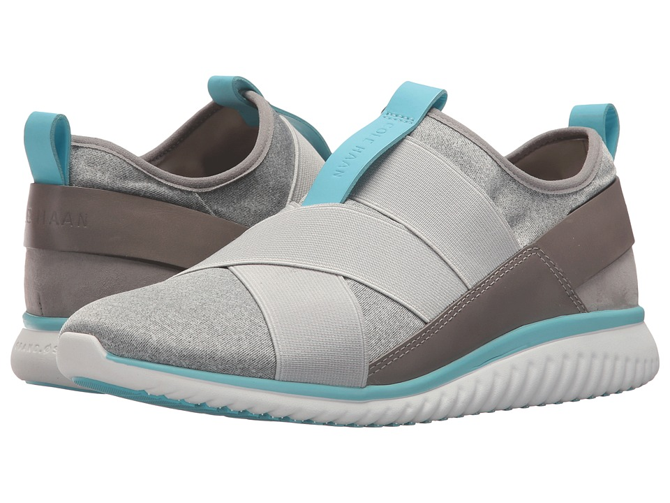 Cole Haan - Studiogrand Sport Knit Trainer (Grey Heathered Neoprene/Vapor Grey Elastic/Ironstone Leather) Womens Shoes