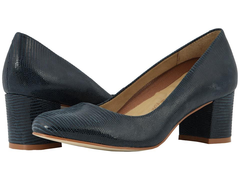 Walking Cradles Jessica (Navy Patent Lizard Print) Women's Shoes