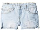 7 For All Mankind Kids Denim Shorts in Cloud Blue (Little Kids)