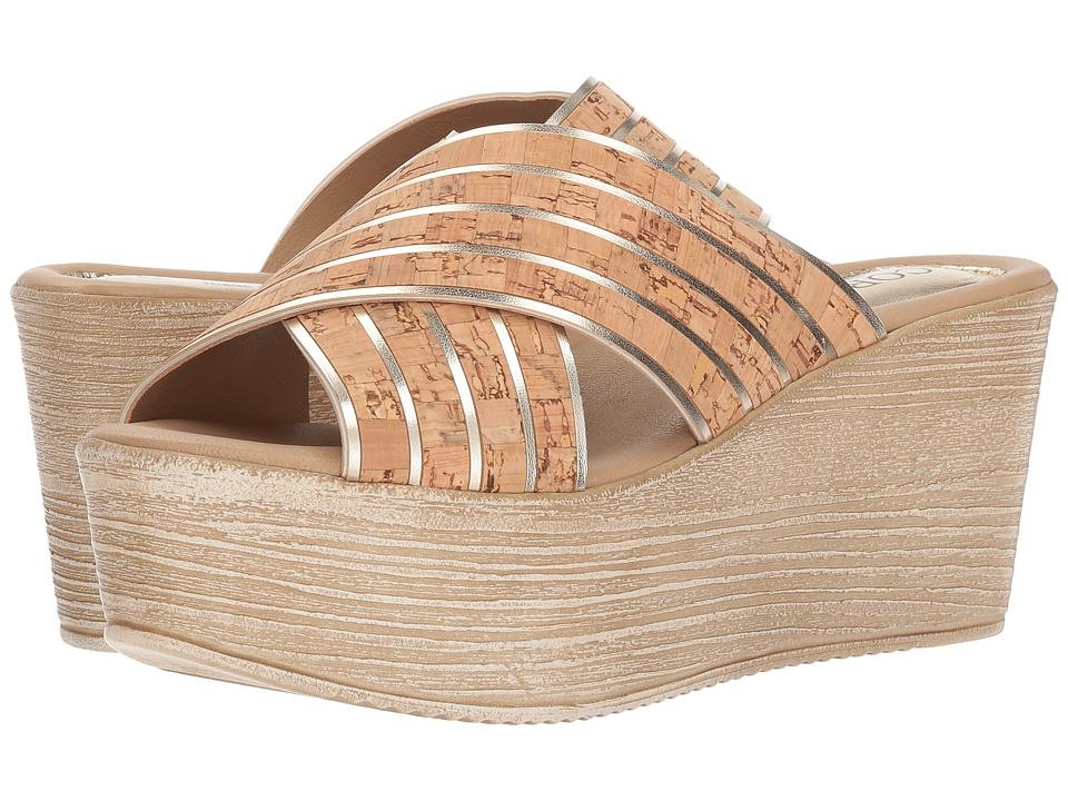 Cordani - Jacey (Cork/Gold) Womens Wedge Shoes