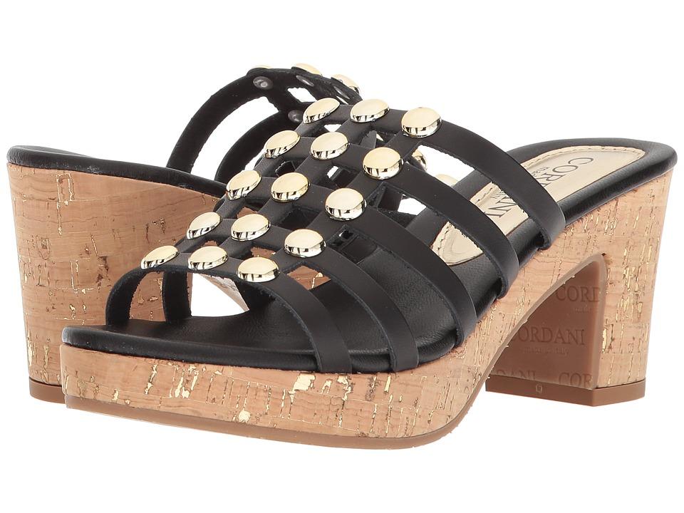Cordani Keane (Black Leather) High Heels