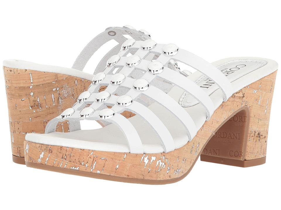 Cordani Keane (White Leather) High Heels