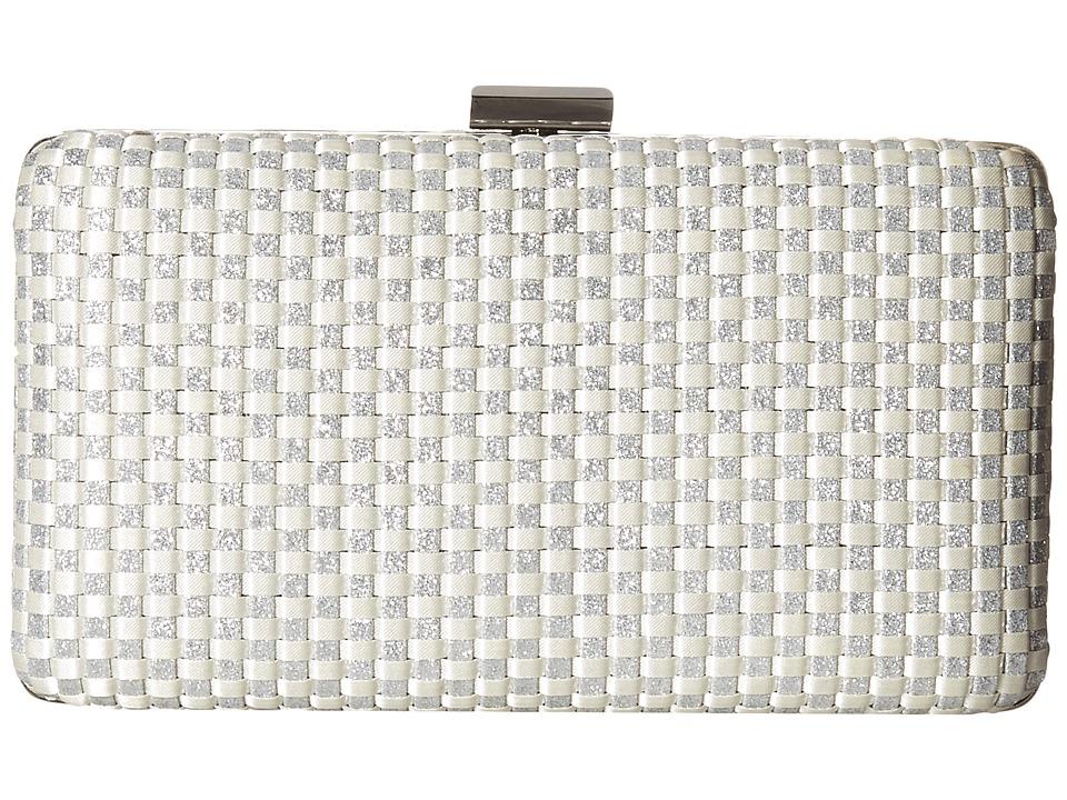 Jessica McClintock - Noelle Woven Satin (Silver) Handbags