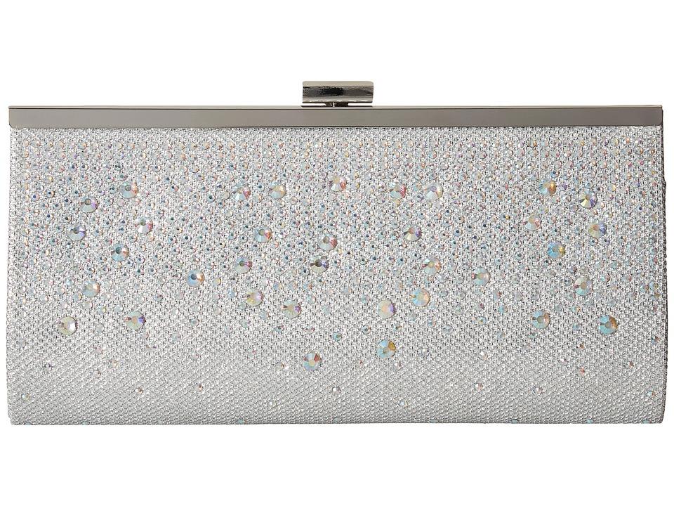 Jessica McClintock - Laura Cascading Clutch (Silver) Clutch Handbags