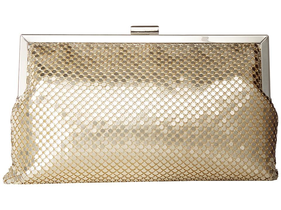 Jessica McClintock - Dakota Frame Clutch (Light Gold) Clutch Handbags