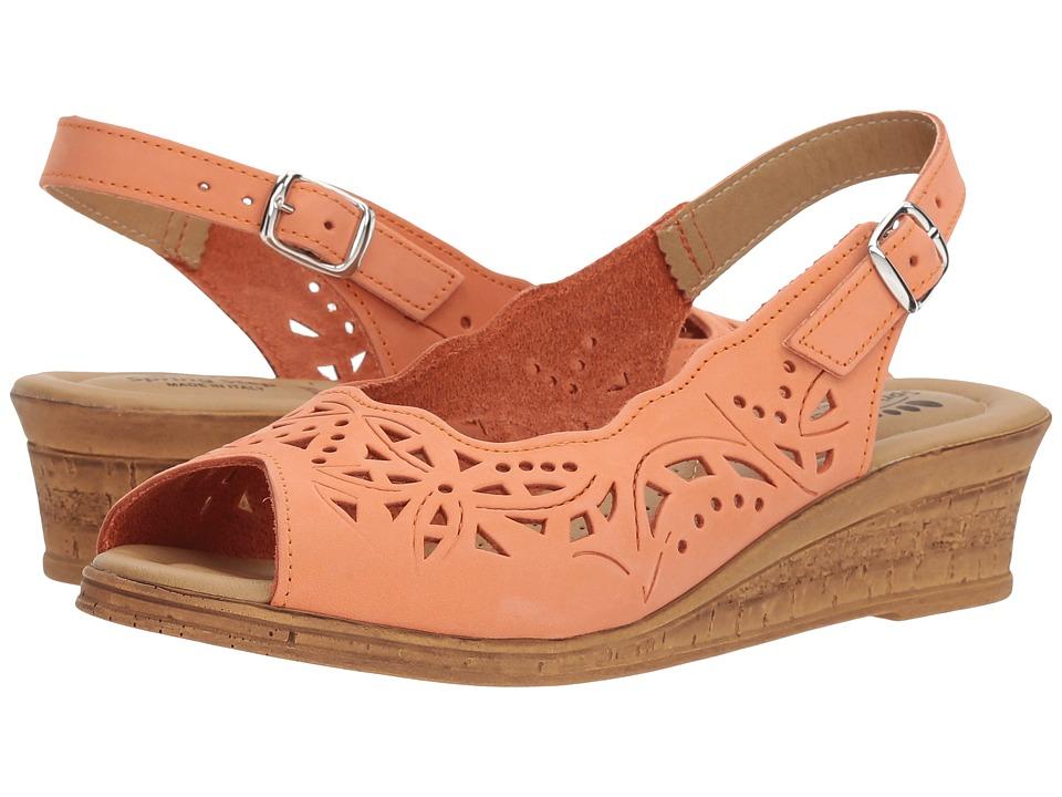Spring Step - Orella (Peach) Womens Wedge Shoes