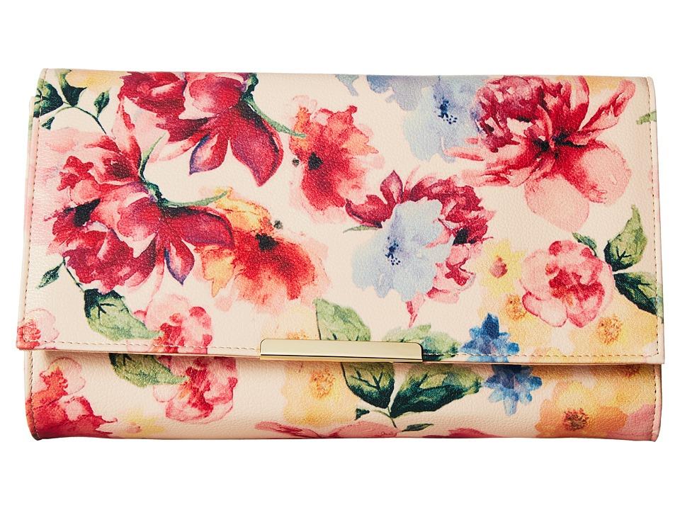 Jessica McClintock - Nora Spring Floral Flap (Spring Floral) Handbags