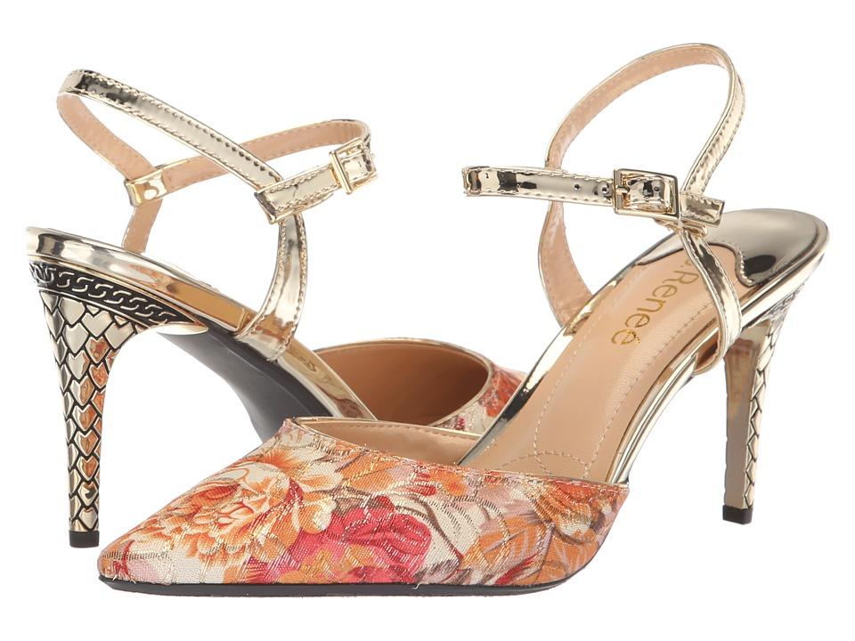 J. Renee Aleron (Nude Multi/Gold) High Heels