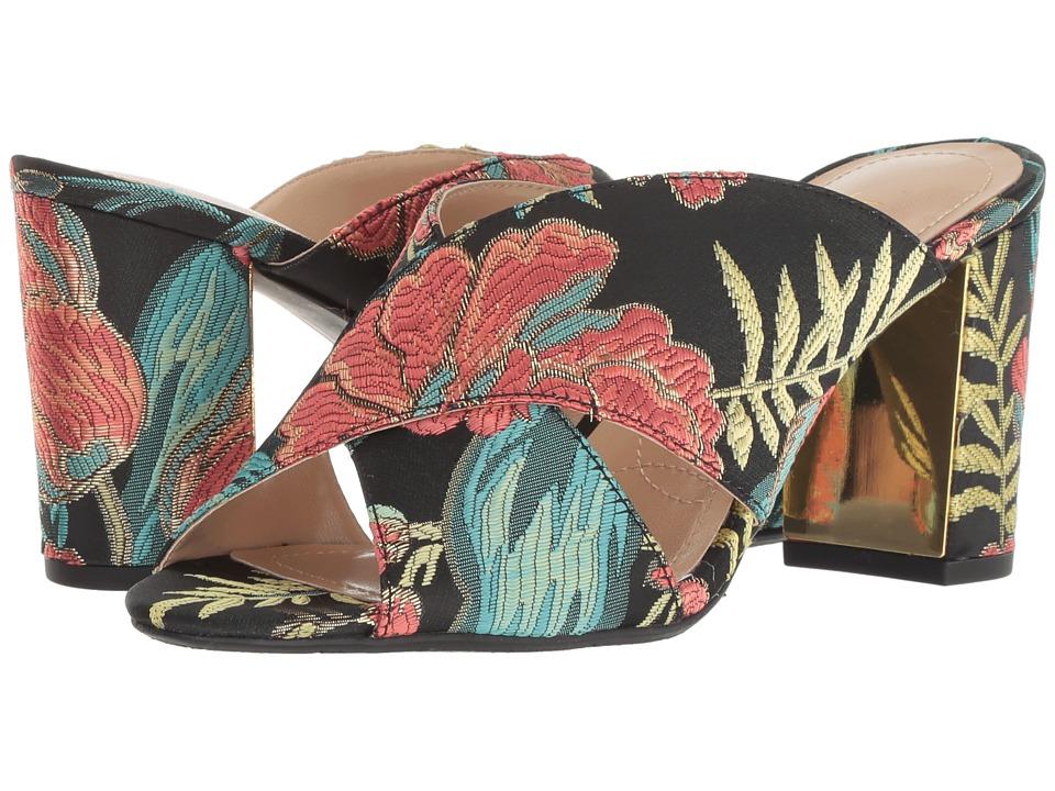 J. Renee Delishia (Black/Teal/Coral) High Heels