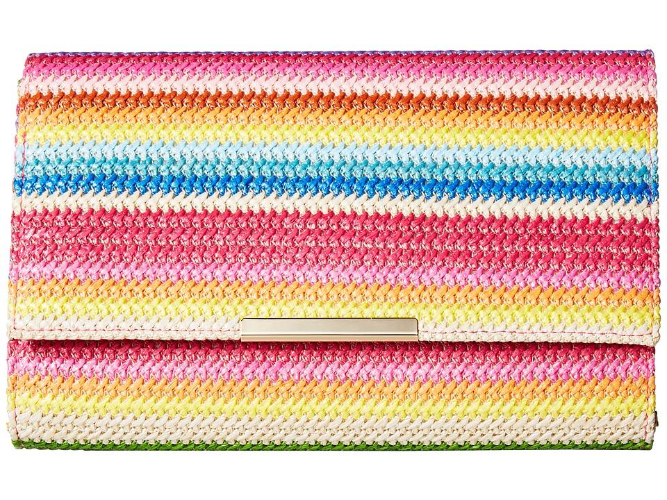 Jessica McClintock - Nora Bright Stripe Clutch (Bright Stripe) Clutch Handbags