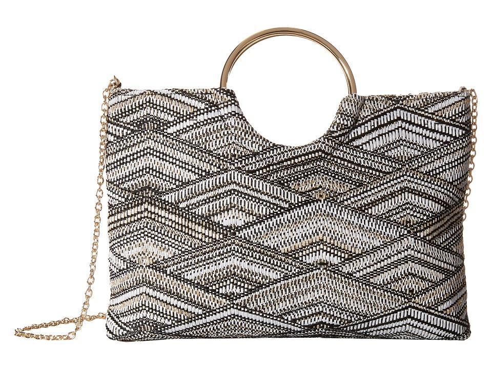 Jessica McClintock - Sonia Ring Bag (Black/White) Handbags