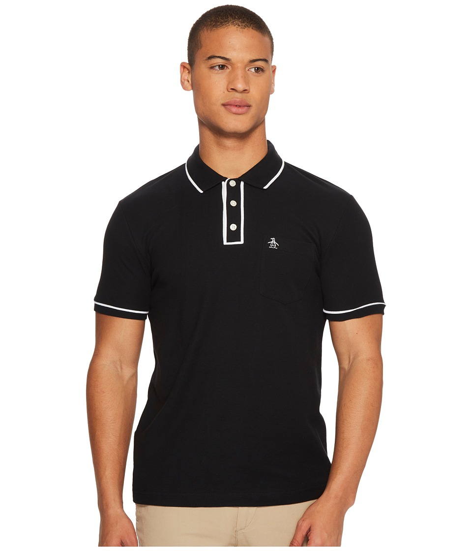 Original Penguin - Earl Polo (True Black) Mens Short Sleeve Pullover