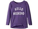 The Original Retro Brand Kids Hello Weekend 3/4 Tri-Blend Pullover (Little Kids/Big Kids)