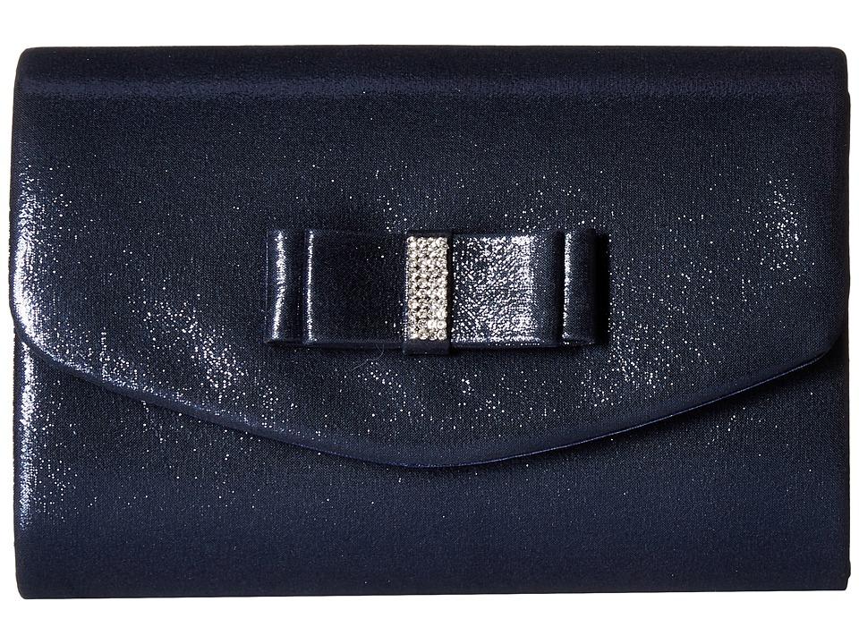 Jessica McClintock - Alexis Soft Shine (Navy) Handbags