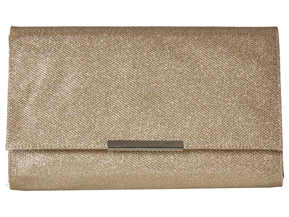Jessica McClintock - Nora Lurex Clutch (Champagne) Clutch Handbags