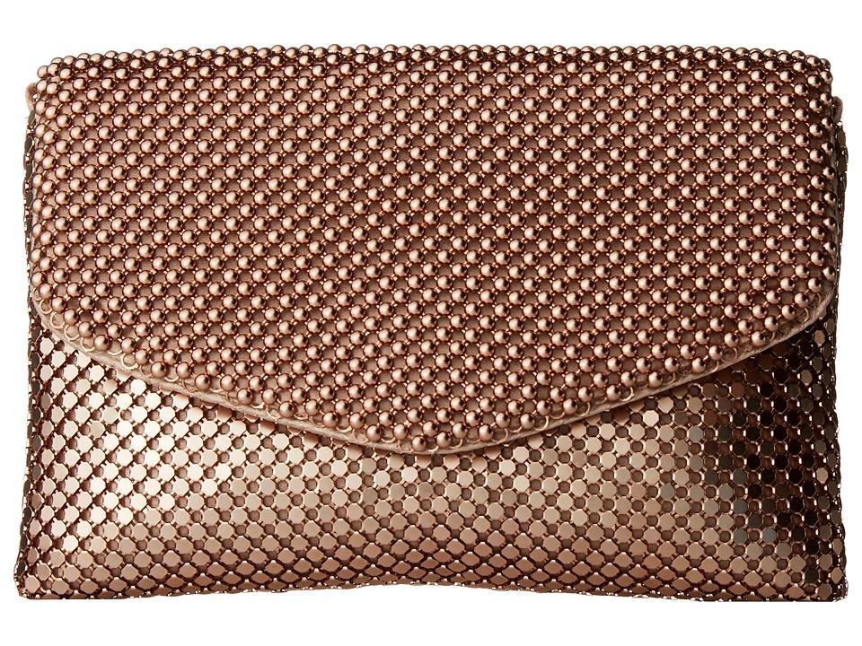 Jessica McClintock - Brooklyn Flap Clutch (Blush) Clutch Handbags