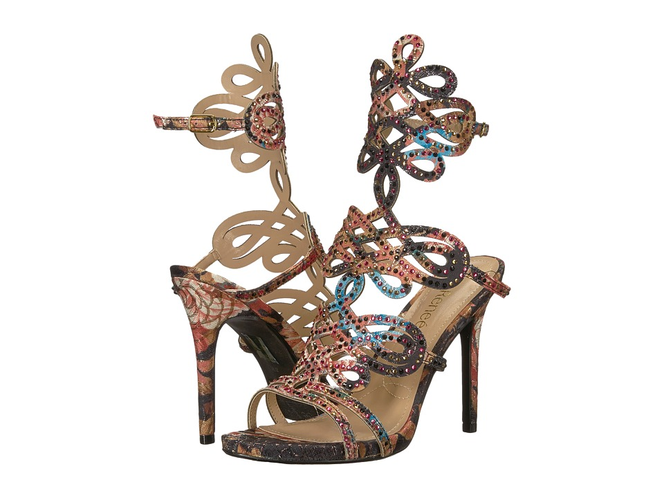 J. Renee Orlena (Black Multi/Gold) High Heels