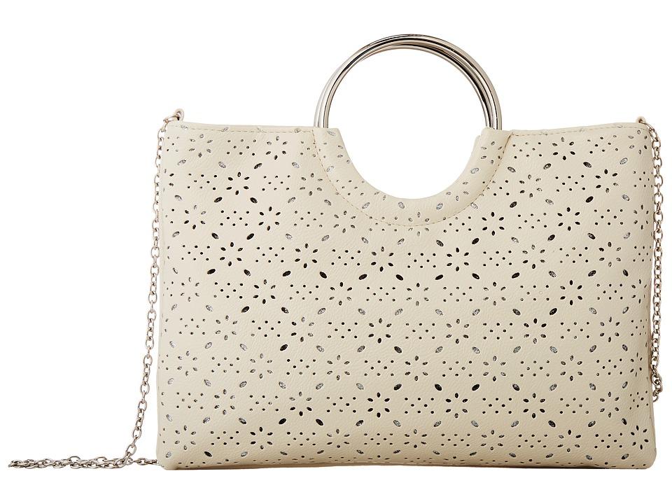 Jessica McClintock - Sonia Ring Perf Bag (Bone) Handbags