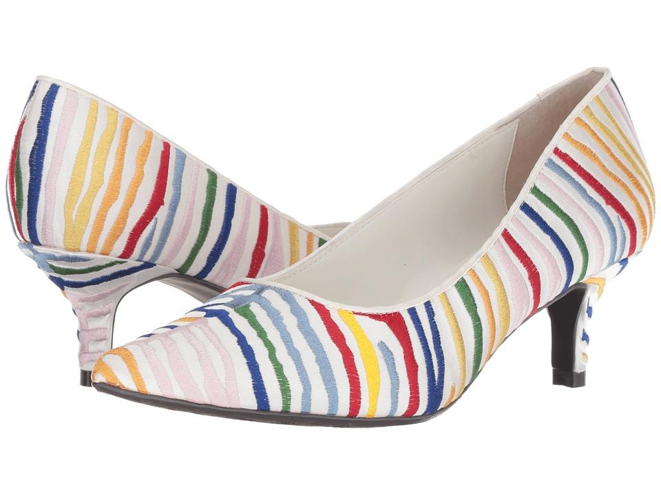 J. Renee Zelaina (White/Bright Multi) High Heels