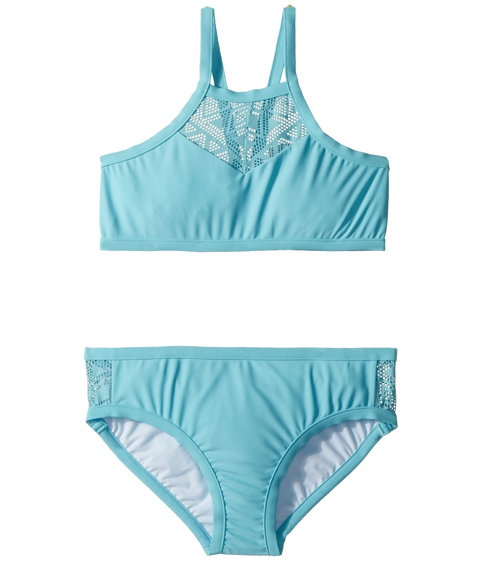 Seafolly Kids - Summer Essentials Apron Tankini Set (Little Kids/Big Kids) (Aqua Sky) Girls Swimwear Sets