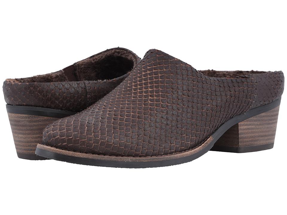 Walking Cradles Greer (Brown Cut Snake Print Leather) 1-2 inch heel Shoes