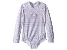 Seafolly Kids Peacock Paisley Long Sleeve Surf Tank One-Piece (Infant/Toddler/Little Kids)