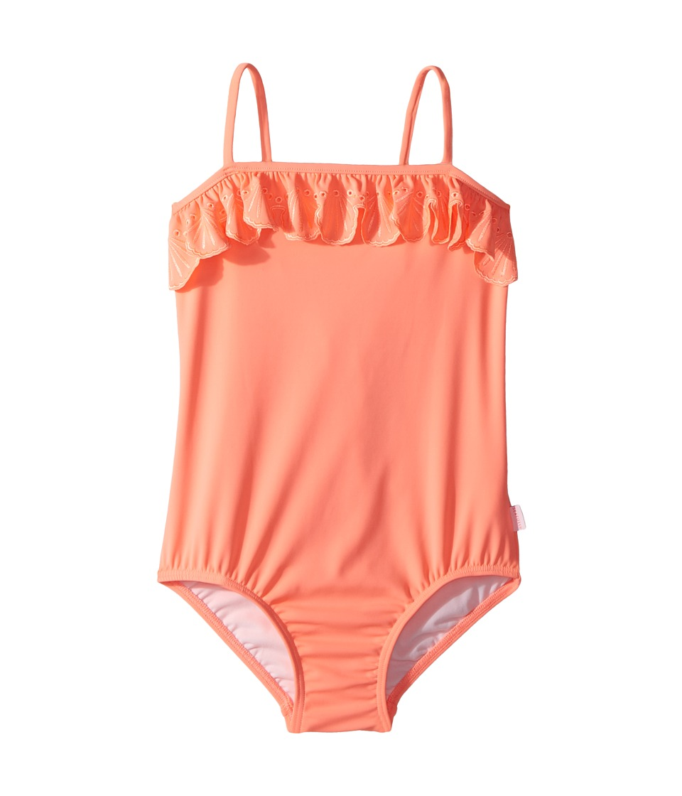 Seafolly Kids - Sweet Summer Frill Tube Tank One-Piece (Infant/Toddler/Little Kids) (Fusion Coral) Girls Swimsuits One Piece