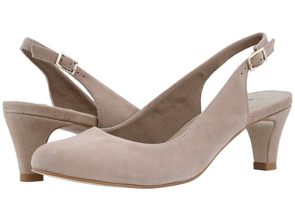 Walking Cradles Jolly (Light Taupe Kid Suede) 1-2 inch heel Shoes