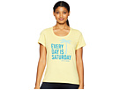 Life is Good Every Day is Saturday Crusher Scoop Neck T-Shirt