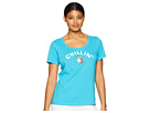 Life is Good Chillin' Beach Ball Crusher Scoop Neck T-Shirt