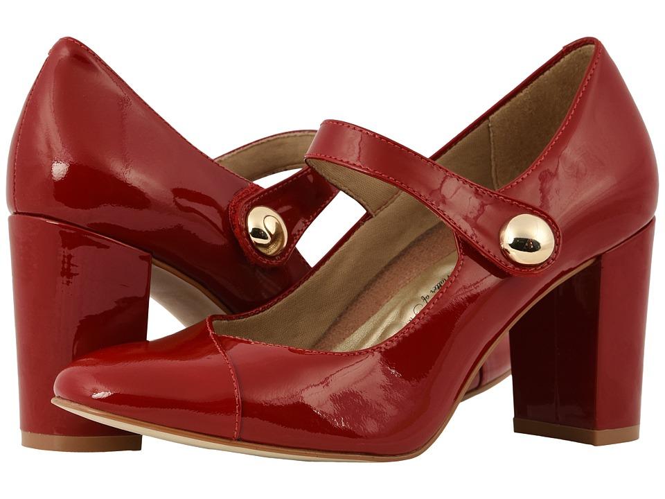Walking Cradles Minx (Red Patent) 1-2 inch heel Shoes